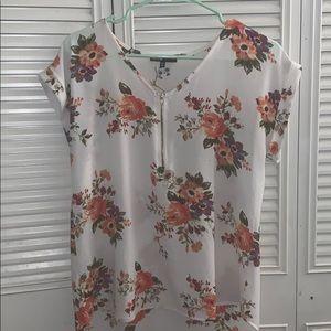 White floral shirt!